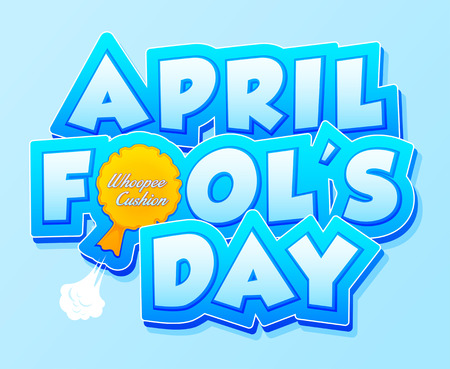 farting: April Fools Day lettering. Vector illustration for greeting card, ad, promotion, poster, flier, blog, article, marketing, signage, email. Happy Fools Day EPS 10