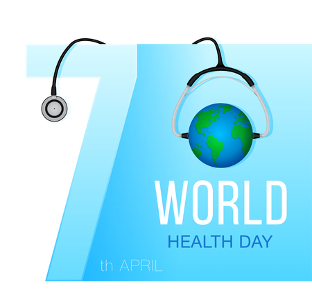 World Health Day. Concept with globe.