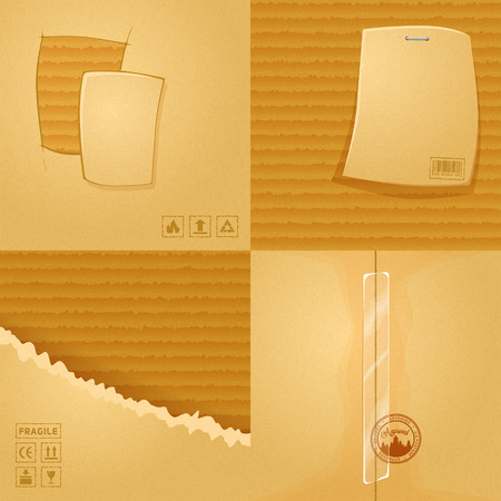 4 cardboard texture. Eps10 vector illustration Vettoriali