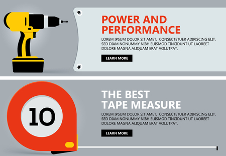 laptop repair: Tool banner concept, vector background for Web with tool, Illustration template design, business infographic, brochure, banner, presentation, poster, cover, booklet, document.