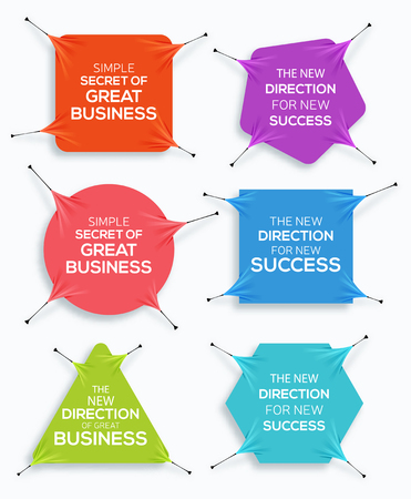 stretch: Set of Website Banner. Business banner. Sale. Discount stretch Banners. New offer. Vector illustration. Illustration