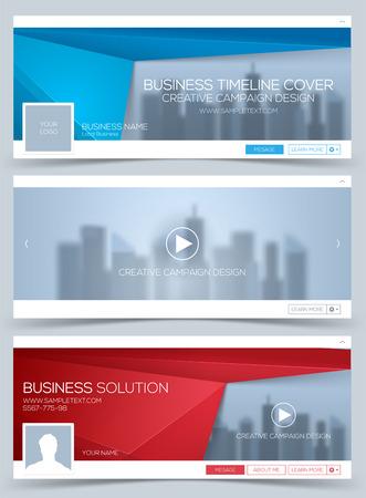 Banner Web, modèle de mise en page d'en-tête. Couverture créative du timeline. Bannière Web.