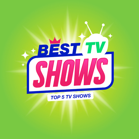 Template for tv shows. shows time. Best tv shows. It can be used for logo tv show. Stock vector