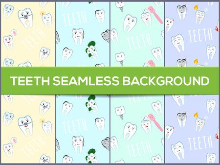 Set of dental   pattern  .  teeth pattern.