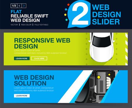 Web slider or banners design concepts for your Website. Illustration