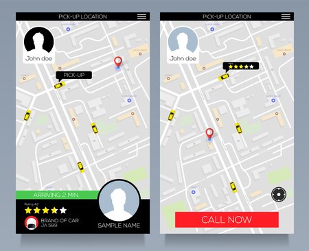 Concept of location service. Pick up taxi service app on mobile phone. Call cab with smartphone.