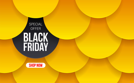 Modern Black Friday banner for special offers, sales and discounts. Vector illustration