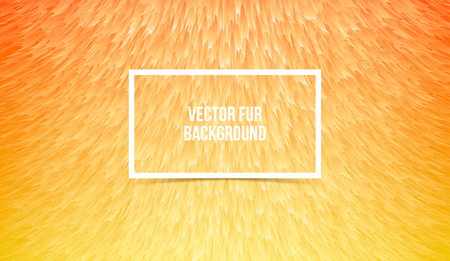 Abstract orange furry background, imitation synthetic fur. Vector texture Stock Illustratie