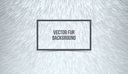 Abstract gray furry background, imitation synthetic fur. Vector texture