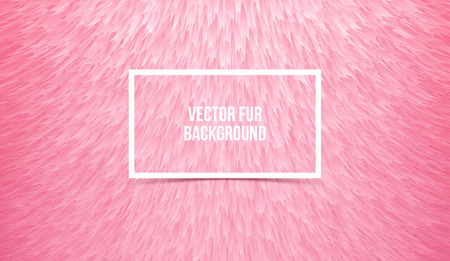 Abstract pink furry background, imitation synthetic fur. Vector texture