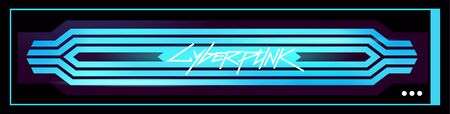 Futuristic digital glow pattern. Cyberpunk style illustration