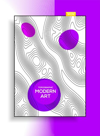 Minimalistic modern design from abstract grid resembling topographic map. Abstract background for design business cards, invitations, gift cards, flyers, brochures. Ilustrace