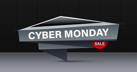 Cyber Monday concept banner in modern style. Creative trendy design banner for cyber monday or black friday offers.