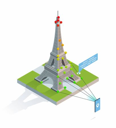 App for Travel services with a hyper exact location recognition, Current information about famous sights based on computer vision. Accurate orientation in the city. Error-free city navigation.