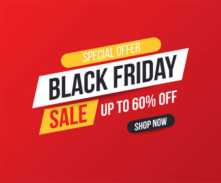 Concise banner for sales and discounts on Black Friday. Black friday banner for sale and discount. Bright, easily editable vector concept.