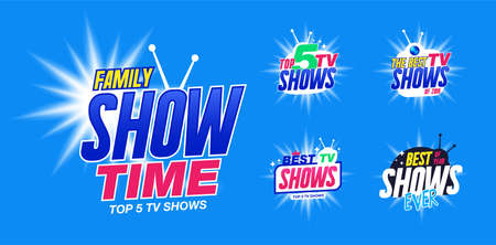 Template Set for tv shows, shows time. The best tv shows. It can be used for tv show.
