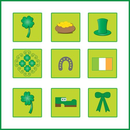 ireland flag: colorful background with ireland flag and symbol for luck