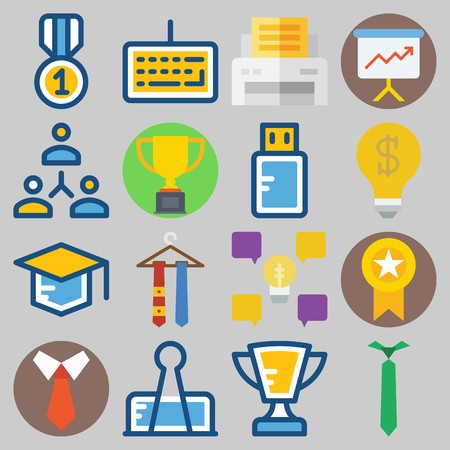 Icons set about School And Education. Illustration