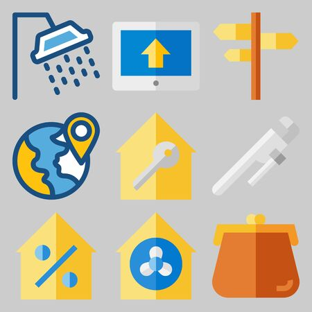 Icons set about Real Assets. Illustration