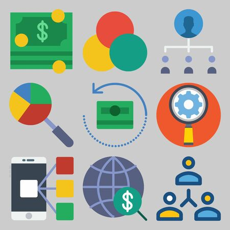 Icons set about Marketing.