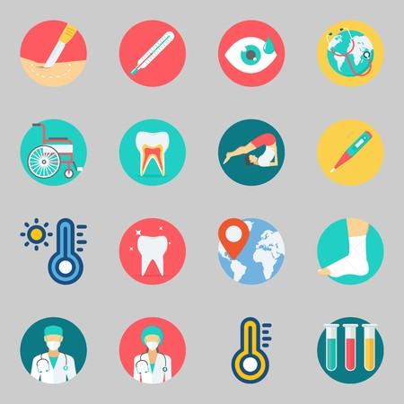 Icons set about Medical. with visibility, tooth and teeth