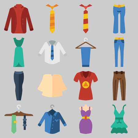 Icons set about Clothes And Accessoires.