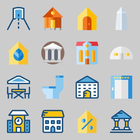 Icons set about Construction.