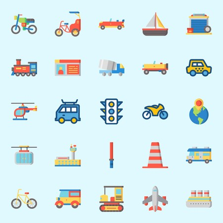 Transportation Icons vector illustration set Imagens - 95530958