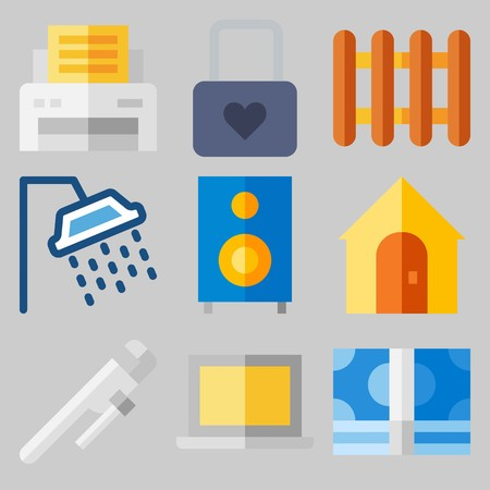 Icon set about Real Assets like housenand vault of fortune