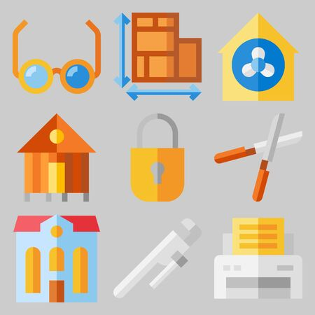 Icon set about Real Assets .
