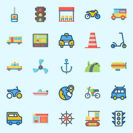 Transportation icons set vector illustration Stok Fotoğraf - 95531752