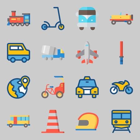Transportation Icons set vector illustration Ilustração