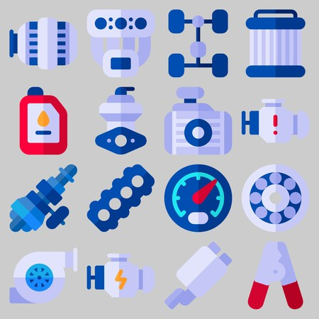 Car engine Icon set vector illustration Illustration