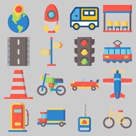 icons set about Transportation . [keywordRandom:3] Ilustração