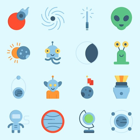 Universe icons set vector illustration