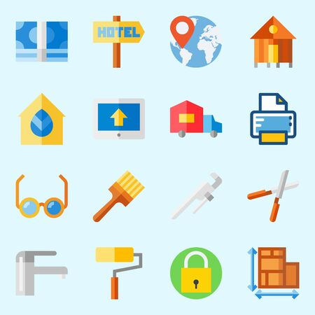 Real Assets icons set vector illustration