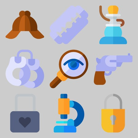 Icon set about Crime Investigation .