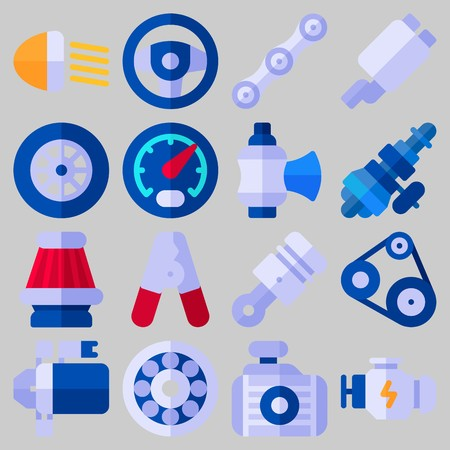 Icon set about Car Engine .
