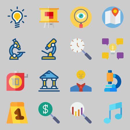 Educational Icons set vector illustration Çizim