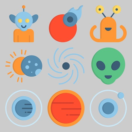 Icon set about Universe .