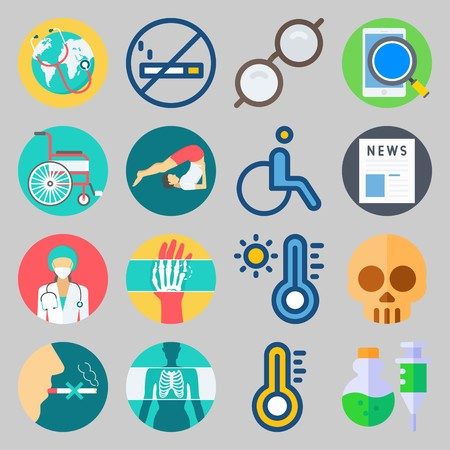 icon set about Medical. with search, hot and x-ray
