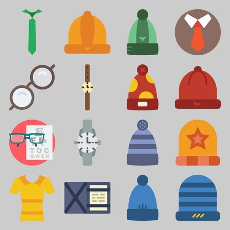 icon set about Man - Clothes. with yellow, tie and snellen chart