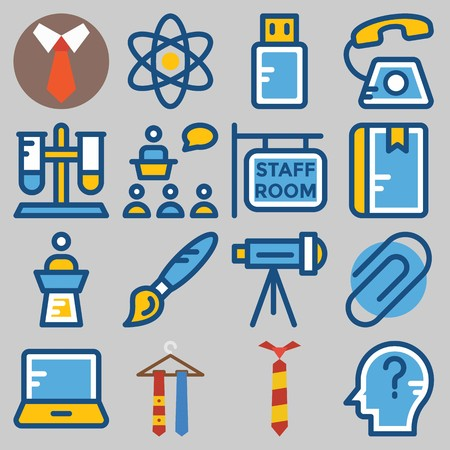 Icons set about School And Education . Illustration