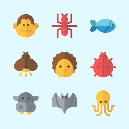 Icons about animals and insects