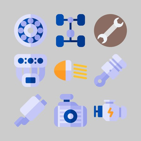 icon set about Car Engine spare parts