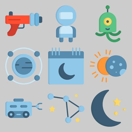 icons set about Universe .