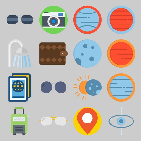 icon set about Travel. with placeholder, moon  and sun