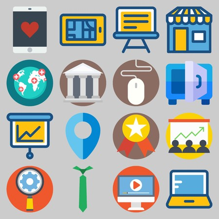 icons set about Digital Marketing .