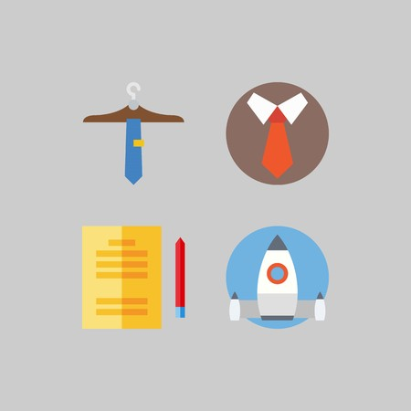 icon set about School And Education. with studying, tie and startup