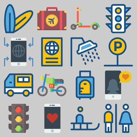 icons set about Travel . Illustration